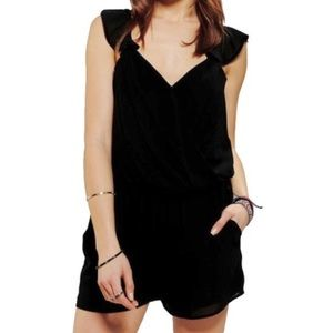 LUCCA COUTURE ROMPER WITH POCKETS